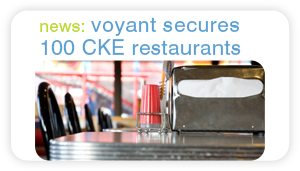 news: voyant secures 100 CKE restaurants